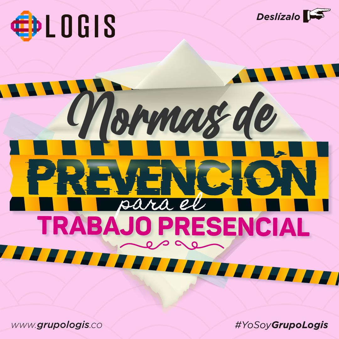 Normas de prevención para el trabajo presencial